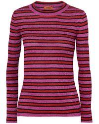 Missoni - Striped Metallic Stretch-knit Top - Lyst