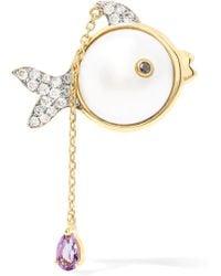 Yvonne Léon - 18-karat Gold Multi-stone Earring - Lyst