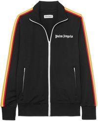 Palm Angels - Striped Satin-jersey Track Jacket - Lyst