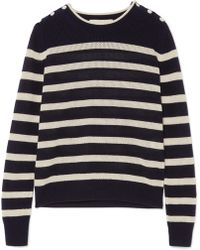 Vanessa Bruno - Izara Striped Waffle-knit Wool And Cashmere-blend Jumper - Lyst