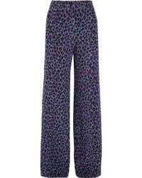 Vanessa Seward - Emmanuelle Leopard-print Silk Crepe De Chine Wide-leg Pants - Lyst