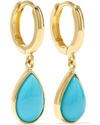 Jennifer Meyer - Huggies 18-karat Gold Turquoise Earrings - Lyst