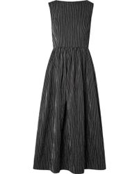 Co. - Striped Crinkled Tton-blend Midi Dress - Lyst