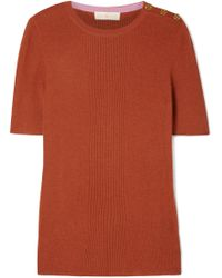 Tory Burch - Taylor Ribbed Cashmere Sweater - Lyst