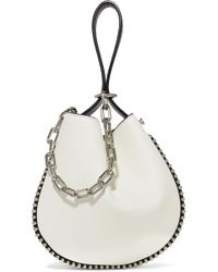 Alexander Wang - Roxy Studded Two-tone Textured-leather Bucket Bag - Lyst