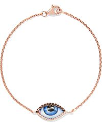Lito - Tu Es Partout 14-karat Rose Gold, Enamel And Diamond Bracelet - Lyst