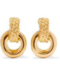 Kenneth Jay Lane - Polished Gold-tone Clip Earrings - Lyst