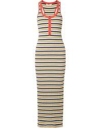 Splendid - + Margherita Banda Striped Stretch Cotton-blend Maxi Dress - Lyst