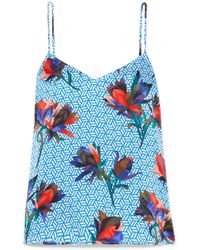 Equipment - Layla Printed Washed-silk Camisole - Lyst