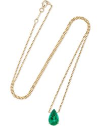 Anita Ko - 18-karat Gold Emerald Necklace - Lyst