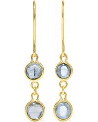 Pippa Small - 18-karat Gold Aquamarine Earrings Gold One Size - Lyst