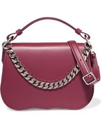CALVIN KLEIN 205W39NYC - Chain-trimmed Leather Shoulder Bag - Lyst