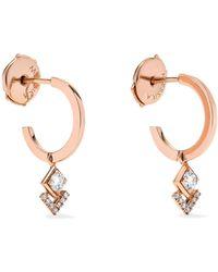 Messika - My Soul 18-karat Rose Gold Diamond Hoop Earrings - Lyst