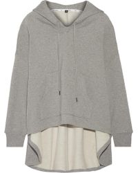 Opening Ceremony - Velvet-appliquéd Cotton-jersey Hooded Top - Lyst