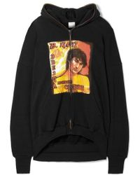 Vetements Idol Oversized Cutout Printed Cotton-jersey Hoodie