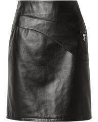Sandy Liang - Blossom Paneled Leather Skirt - Lyst