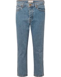 The Great - The Rigid Fellow Cropped High-rise Straight-leg Jeans - Lyst