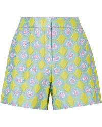 Emilio Pucci - Jacquard Shorts - Lyst
