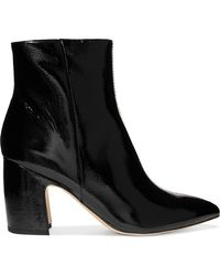 Sam Edelman - Hilty Patent-leather Ankle Boots - Lyst