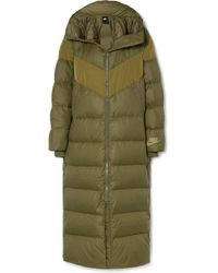 Nike - Hooded Quilted Shell Down Coat - Lyst