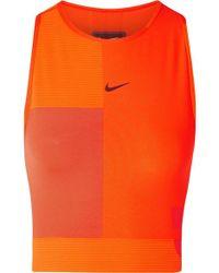 Nike - Tech Pack Cropped Cutout Pro Hypercool Top - Lyst
