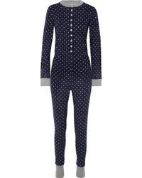 Sleepy Jones - Della Polka-dot Cotton-jersey Pyjama Jumpsuit - Lyst