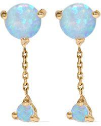 Wwake - Two Step 14-karat Gold Opal Earrings - Lyst
