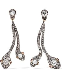 Fred Leighton - Collection Silver-plated Gold, Diamond And Ruby Earrings - Lyst
