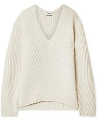 Acne Studios - Deborah Ribbed Wool Jumper - Lyst