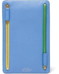 Smythson - Panama Textured-leather Wallet - Lyst