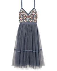 Needle & Thread - Robe En Tulle À Broderies Whimsical - Lyst