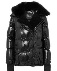 26fb4ff252 Moncler Grenoble - Seelisberg Shearling-trimmed Quilted Glossed-shell Down  Jacket - Lyst