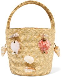 Rosie Assoulin - Embellished Woven Straw Tote - Lyst