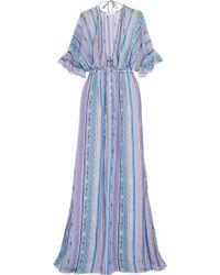 Matthew Williamson | Saya Stripe Silk-chiffon Maxi Dress | Lyst