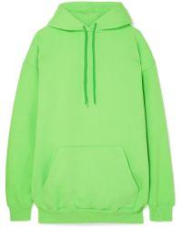 Balenciaga - Oversized Cotton-blend Jersey Hoodie - Lyst