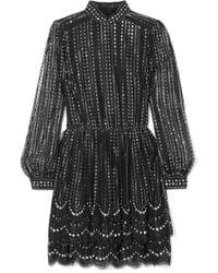 MICHAEL Michael Kors - Crystal-embellished Metallic Lace Mini Dress - Lyst