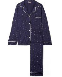 Eberjey - Sleep Chic Bedruckter Pyjama Aus Stretch-jersey - Lyst