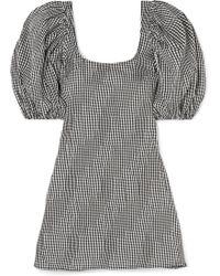 Georgia Alice - Famous Ruched Gingham Cotton-blend Poplin Mini Dress - Lyst