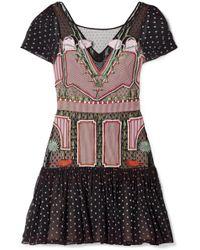 Temperley London - Bourgeois Silk Chiffon-paneled Embroidered Point D'esprit Mini Dress - Lyst
