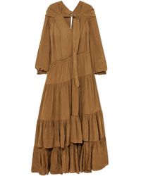 3.1 Phillip Lim - Tiered Habotai Maxi Dress - Lyst