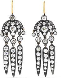 Fred Leighton - Collection Budding Flower Dart 18-karat Gold Diamond Earrings - Lyst