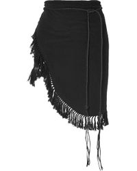 Caravana - Tuzik Belted Fringed Cotton-gauze Pareo - Lyst
