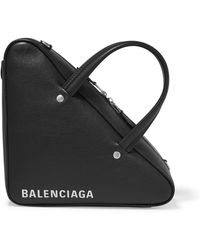 Balenciaga - Triangle Duffle Xs Printed Textured-leather Tote - Lyst