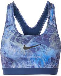 Nike - Classic Printed Dri-fit Stretch Sports Bra - Lyst