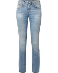 R13 - Alison Low-rise Skinny Jeans - Lyst