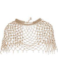 Rosantica - Clara Gold-tone Freshwater Pearl Cape - Lyst