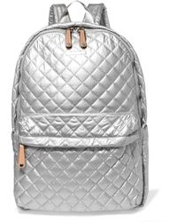 MZ Wallace - Metro Leather-trimmed Metallic Quilted Shell Backpack - Lyst