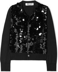 Comme des Garçons - Sequined Wool Cardigan - Lyst