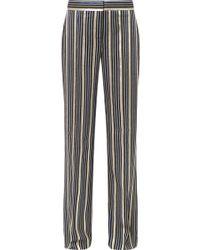 Peter Pilotto - Metallic Striped Jacquard Wide-leg Trousers - Lyst