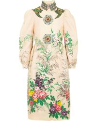 Gucci - Embellished Embroidered Cloqué Coat - Lyst